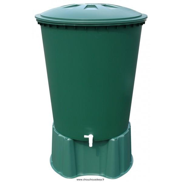 cuve cylindrique 310l garantia avec collecteur de gouttière et ... - Robinet Pour Recuperateur D Eau De Pluie