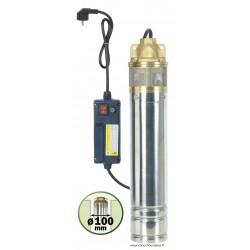 Pompe inox pour forage et puits diamètre 90 mm 750 W Ribiland