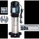 Pompe verticale Pro multicellulaire auto-amorçante 10 turbines 2700W