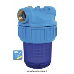 Filtre 5 pouces à eau avant pompe avec filtration 50 microns lavable