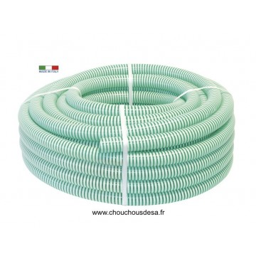 Tuyau annelé diamètre 25 mm en PVC couronne de 25 m
