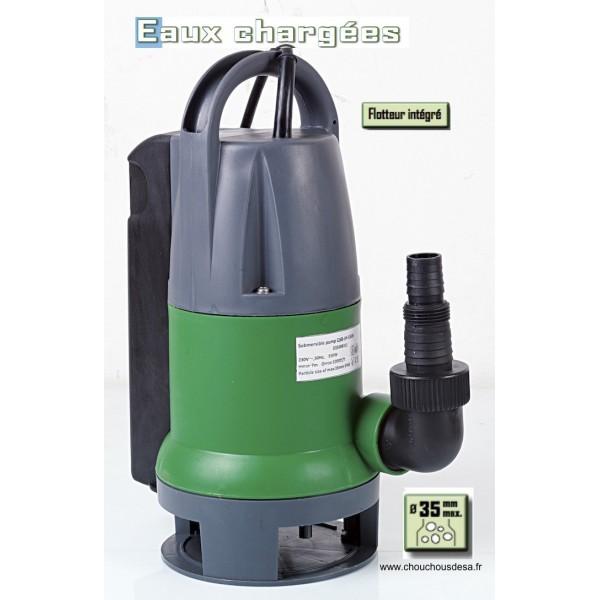 pompe vide-cave 550 w flotteur intégré pour eaux chargées