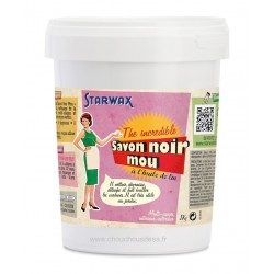 Savon noir mou à l'huile de lin Starwax pot de 1 kg