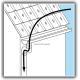 Méthode d'utilisation du crochet déboucheur pour descente de gouttière