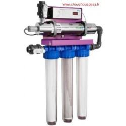 Skid Ecostream 4 Alfaa traiteme de de 4 à 6 m³/h d'eau par ultraviolet