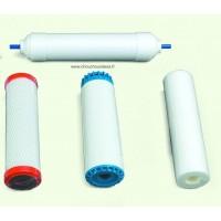 Les 4 filtres pour les purificateurs d'eau Cintroclear UF 400 et UF 500