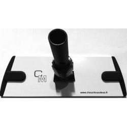 Plateau support mop microfibre 30 cm à bandes Velcro