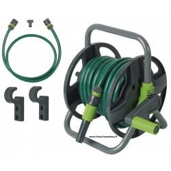 Dévidoir portable avec tuyau d'arrosage Ø 12,5 et équipements
