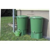 Kit 2 cuves cylindriques 510 L pour la récupération d'eau de pluie