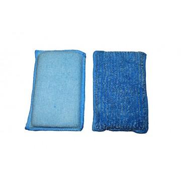 Lot de 2 éponges microfibre format 13 X 8 cm double textures