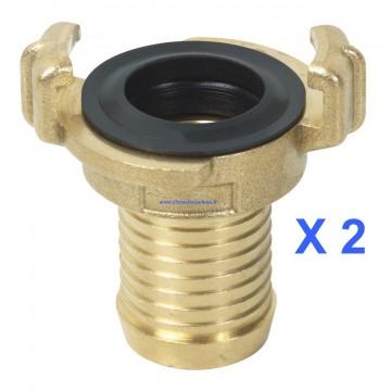 Raccords pompiers cannelés pour tuyaux de 25 mm