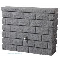 Réservoir mural 400 L Rocky gris granite Garantia