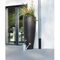 Réservoir 300 L 2 en 1 Garantia couleur Moka sur une terrasse