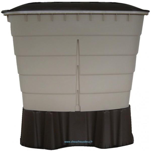 Cuve rectangulaire 520 l garantia avec collecteur de goutti re et robinet c - Recuperation eau de pluie gouttiere ...
