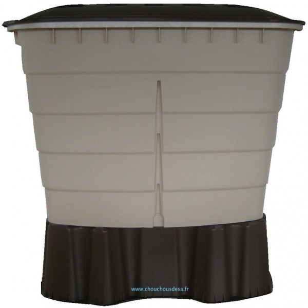 Cuve rectangulaire 520 l garantia avec collecteur de goutti re chouchousdesa - Collecteur eau de pluie gouttiere rectangulaire ...