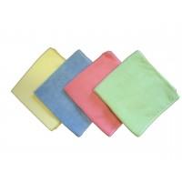 Les 4 couleur de lavettes microfibre pour l'entretien de la maison