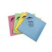 Les lavettes microfibre antibactériennes Dotty pour entretien des surfaces