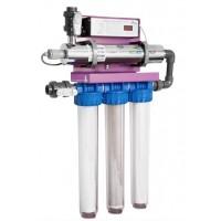 Skid Ecostream 2 station de potabilisation d'eau par UV et filtres Alfaa