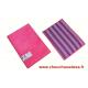 Tampon microfibre Mémo Pad violet et fuchsia à mémoire de forme de Concept Microfibre