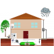 Schéma d'installation citerne souple 90 m³ pour récupération d'eau de pluie et stockage d'eau