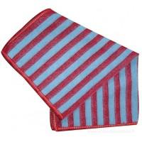 Carré microfibre EMR rayé bleu et rouge pour désincruster et absorber