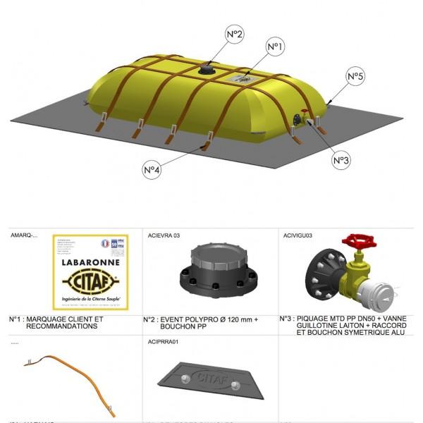 citerne souple 1000 l pour le transport d 39 eau labaronne citaf chouchousdesa. Black Bedroom Furniture Sets. Home Design Ideas