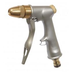Pistolet d'arrosage 100% laiton et métal Ribiland avec raccord rapide