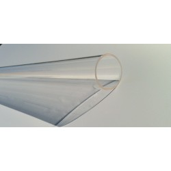 Tube quartz diamètre 24 mm L 950 mm Alfaa