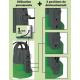 Utilisation de la pompe serpillière 400W aspire jusqu'à 1mm du sol