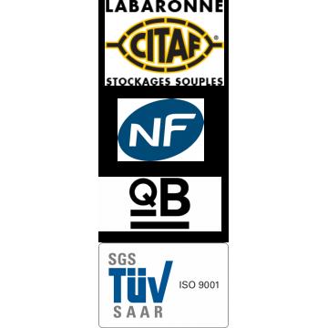 Citerne souple 240 m³ défense incendie certifiée NF QB-CSTB et TÜV