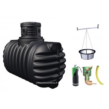Cuve 1600 L 4RAIN Garantia à enterrer avec pompe et filtration