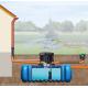 Implantation de la cuve à enterrer Flat 3000 L jardin Confort Garantia