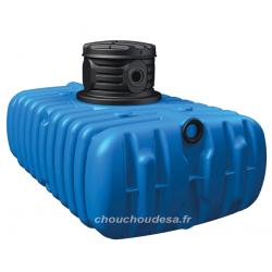 Cuve enterrée 1500 L Flat Garantia avec pompe immergée et filtration