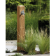 Fontaine de jardin Wood Garantia aspect bois naturel en PE