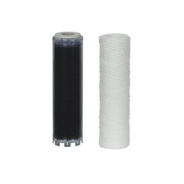 """Kit filtre anti-boue tressé et filtre charbon en 9""""3/4"""