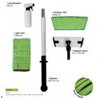 kit microfibre vitres 30 cm DELTA de Concept Microfibre