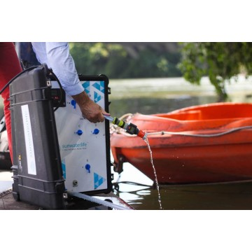 Aqualink UF l'ultrafiltration mobile et solaire de Sunwaterlife