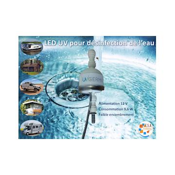 LED UVC 12V GERMI UV pour la désinfection de l'eau par ultraviolet