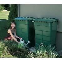 2 cuves rectangulaires 300 L vert de Garantia pour la récupération d'eau de pluie