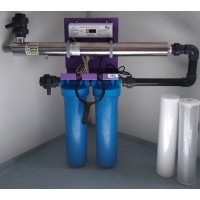 Skid ECOSTREAM 6 plus avec sonde de contrôle pour potabilisation de l'eau par UVC, Alfaa