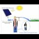 Pompe solaire immergée 12 V alimentée par un panneau solaire