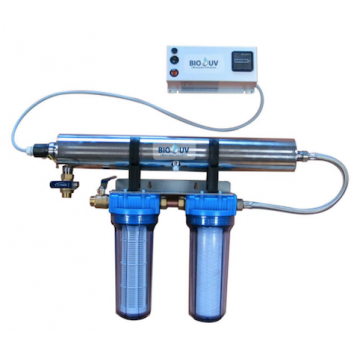BIO UV Home 2 avec filtration débit 2,2 m3/h traitement d'eau par UV C