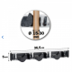 Dimensions du porte balais microfibre 3 accroches