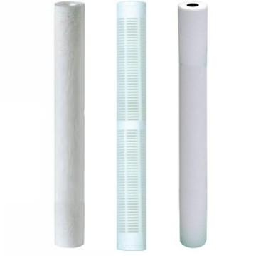 """Kit 3 filtres 20"""" en 60µ lavable 20µ et 5 microns avec charbon"""
