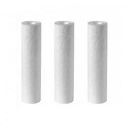 Lot de 3 filtres 1 micron 9 pouces 3/4 pour filtration d'eau