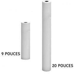 """Filtre charbon actif et Melt Bolwn 5 microns en 9""""3/4 ou 20 pouces"""
