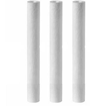 Lot de 3 filtres 1 micron 20 pouces Puromelt pour filtration d'eau