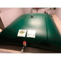 Citerne souple 5000 L pour récupération d'eau pluie dans un vide-sanitaire