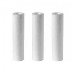 Lot de 3 filtres 10 microns 9 pouces 3/4 pour filtration d'eau