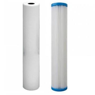 Kit 2 filtres 20 pouces BIG 60 et 5 microns + charbon Ecostream 6